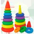 Раскраски Пирамидка с целью малышей