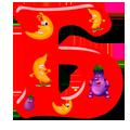 Раскраска Буква Б - распечатать в формате А4