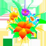 Раскраски Цветы - распечатать в формате А4