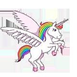 Раскраска Единорог с крыльями - распечатать в формате А4