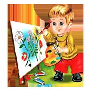 Раскраски Художник - распечатать в формате А4