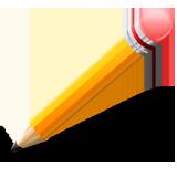 Раскраски Карандаш - распечатать в формате А4