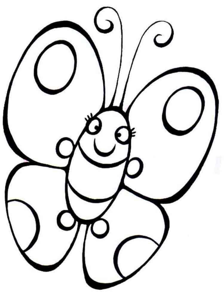 раскраски картинки бабочки