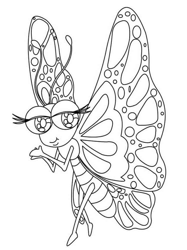 картинка бабочки раскраски