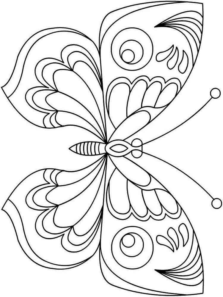 Раскраска для девочек бабочки распечатать - 8