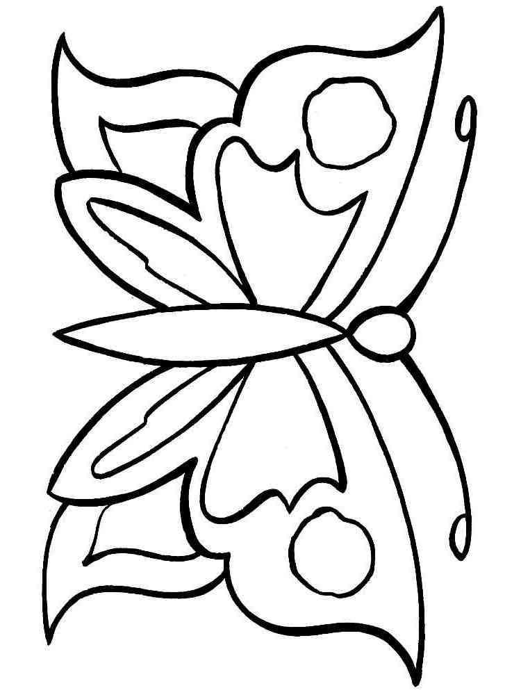 Раскраска для девочек бабочки распечатать - 5