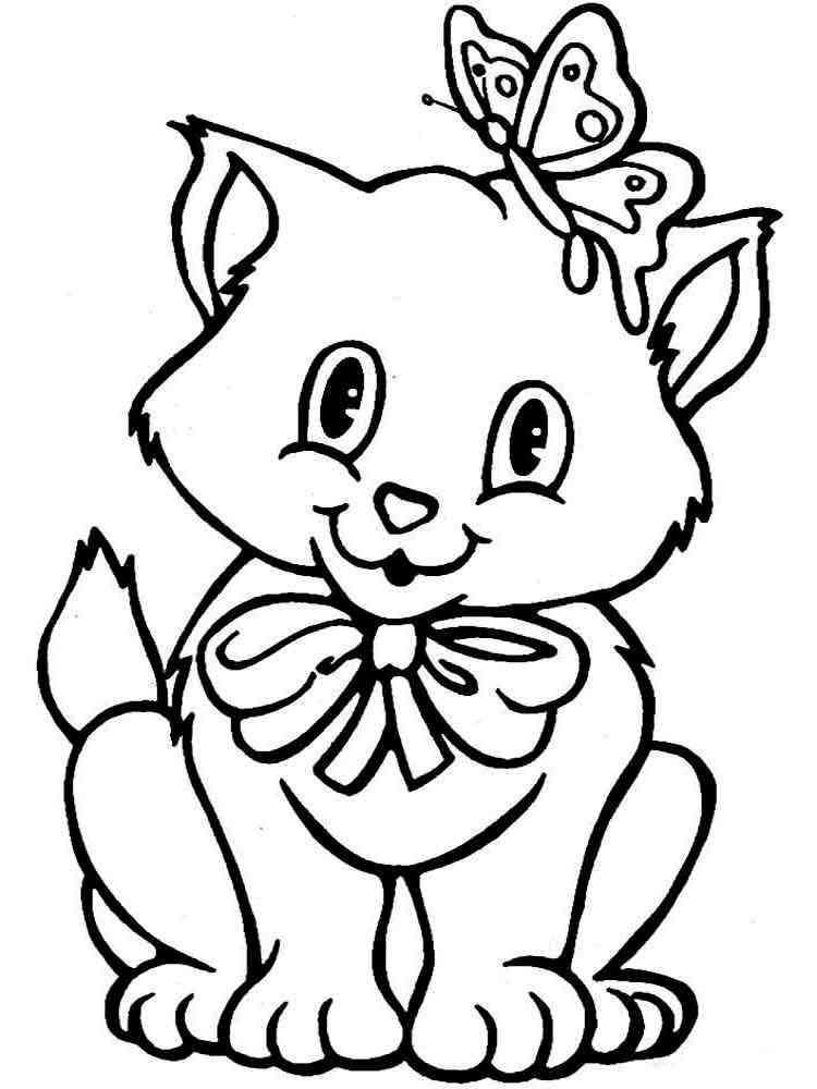 раскраски кошки и котята скачать и распечатать раскраски