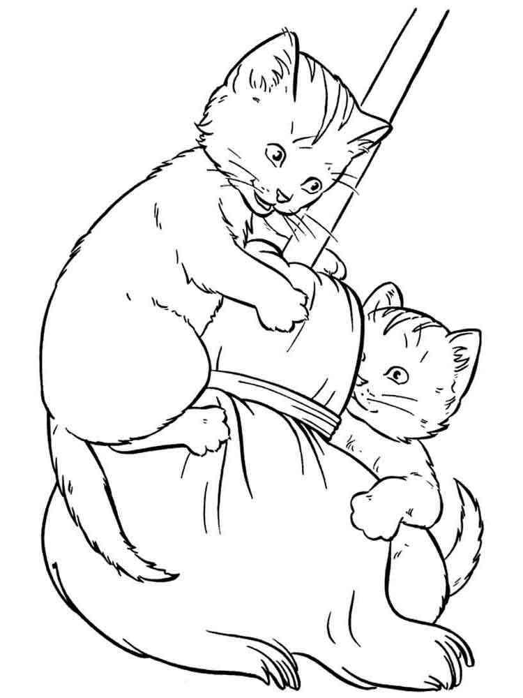 И распечатать раскраски кошки и