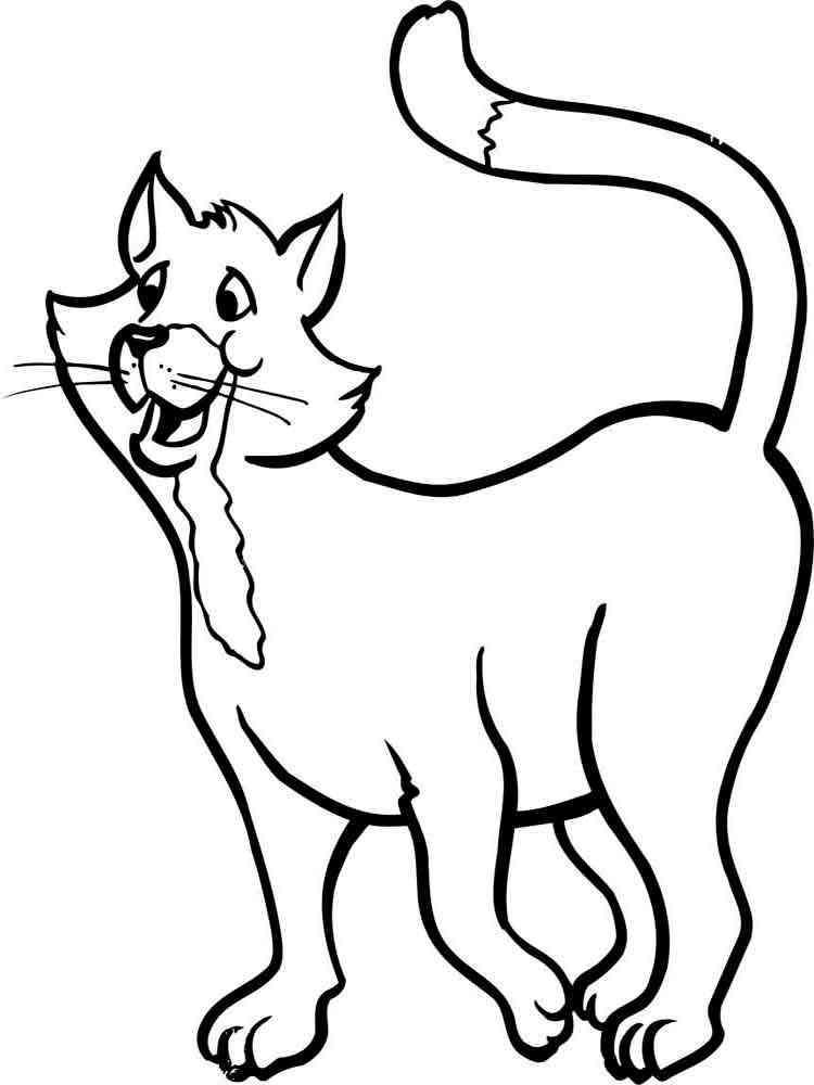 Скачать раскраски кошки антистресс