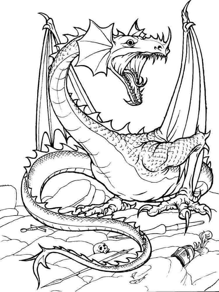 Раскраски Драконы. Скачать и распечатать раскраски Драконы