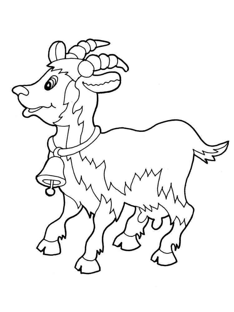 Распечатать одну раскраску козы