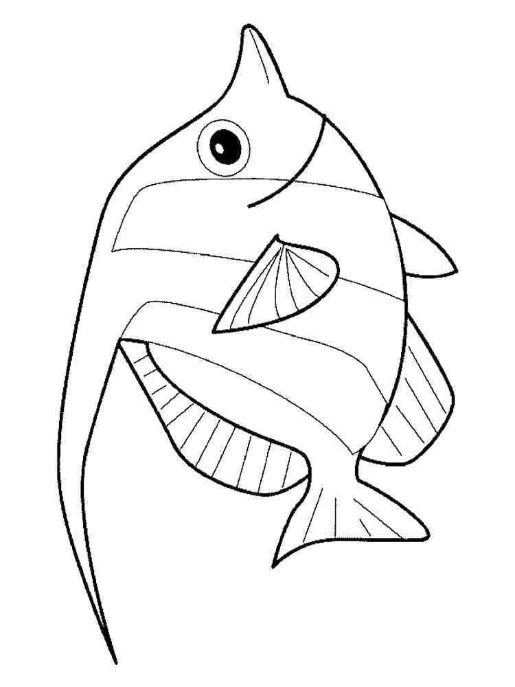 Раскраски Аквариумные рыбки - распечатать в формате А4