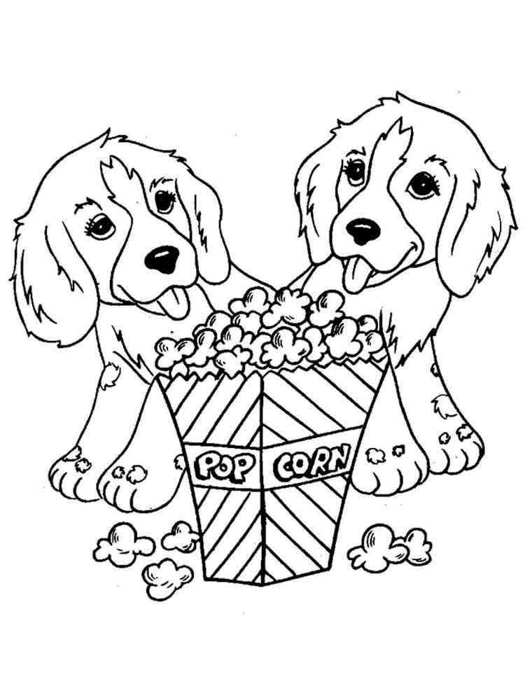 Раскраски для девочек 9 лет собачки