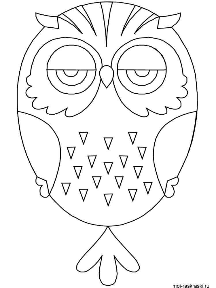 Рисунок совы для поделки 15