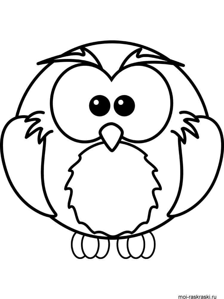 Антистресс раскраски сова