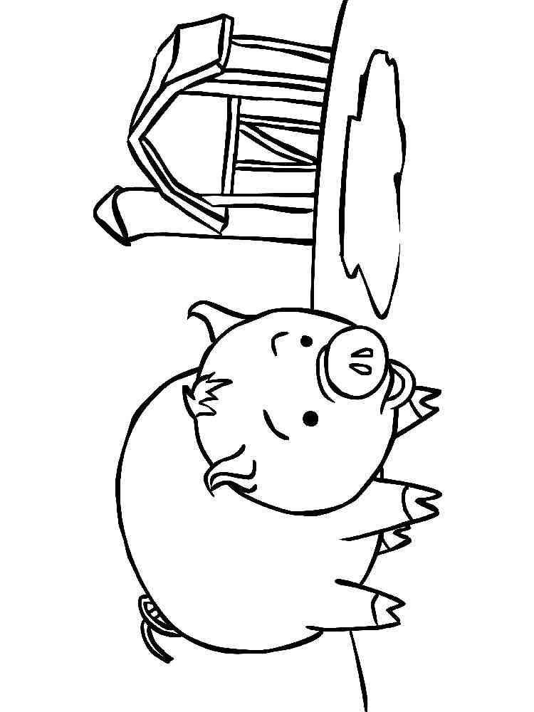 раскраска свиньи для детей 3-4 лет