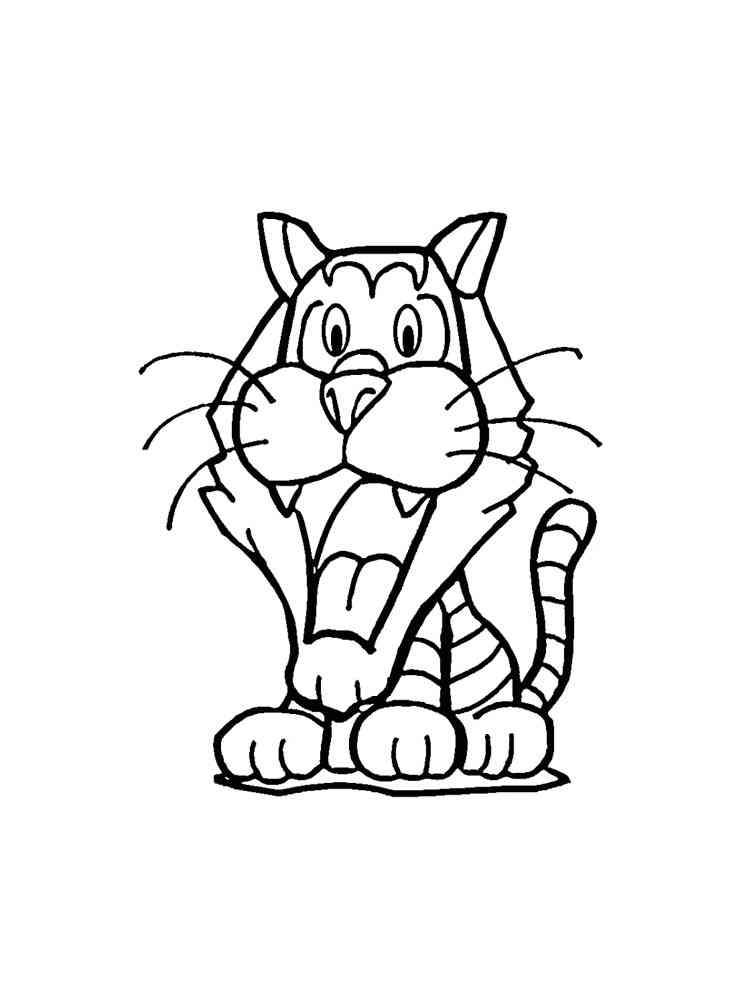 Раскраски Тигр - распечатать в формате А4