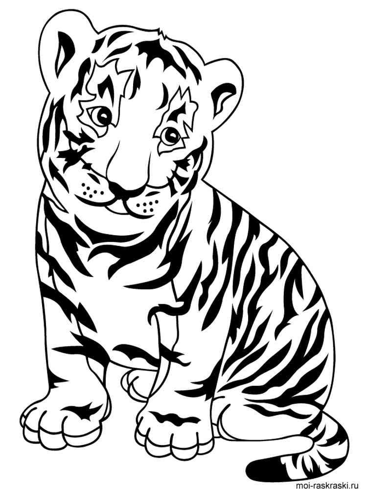Тигры картинки для раскраски