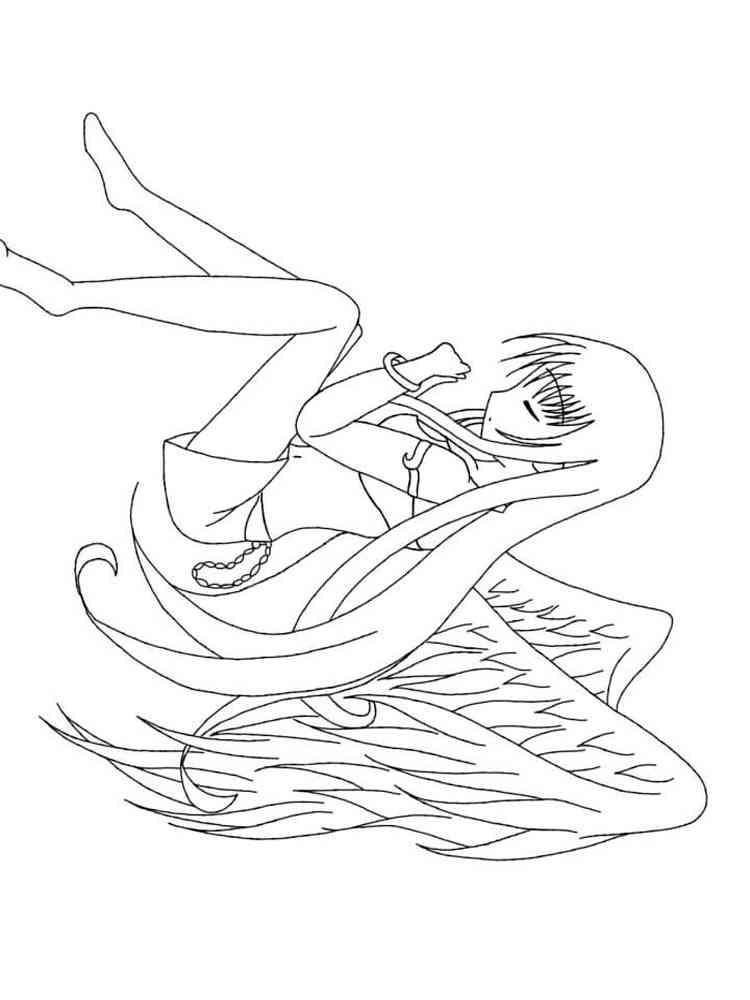 Раскраски Ангелы Аниме - распечатать в формате А4