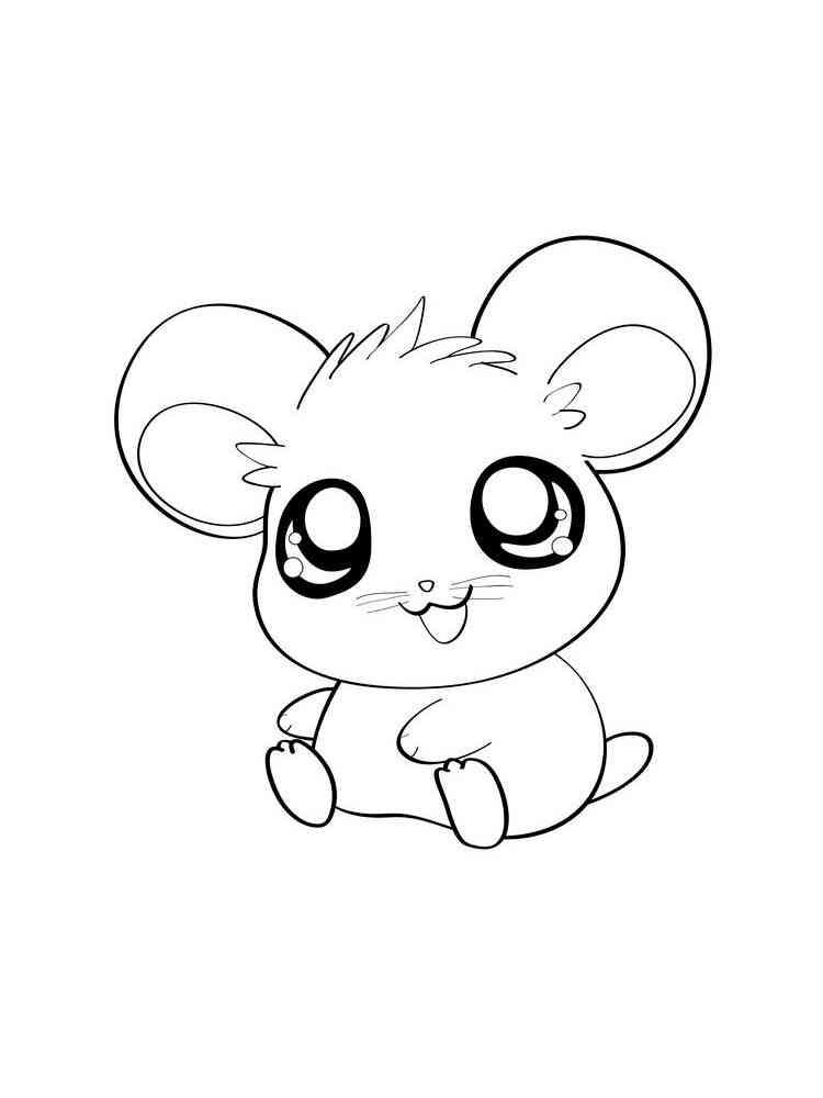 Раскраски Аниме животные - распечатать в формате А4