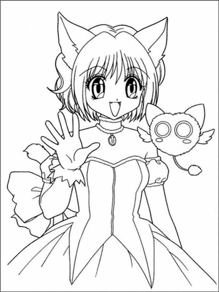 Раскраски Котики Аниме - распечатать в формате А4