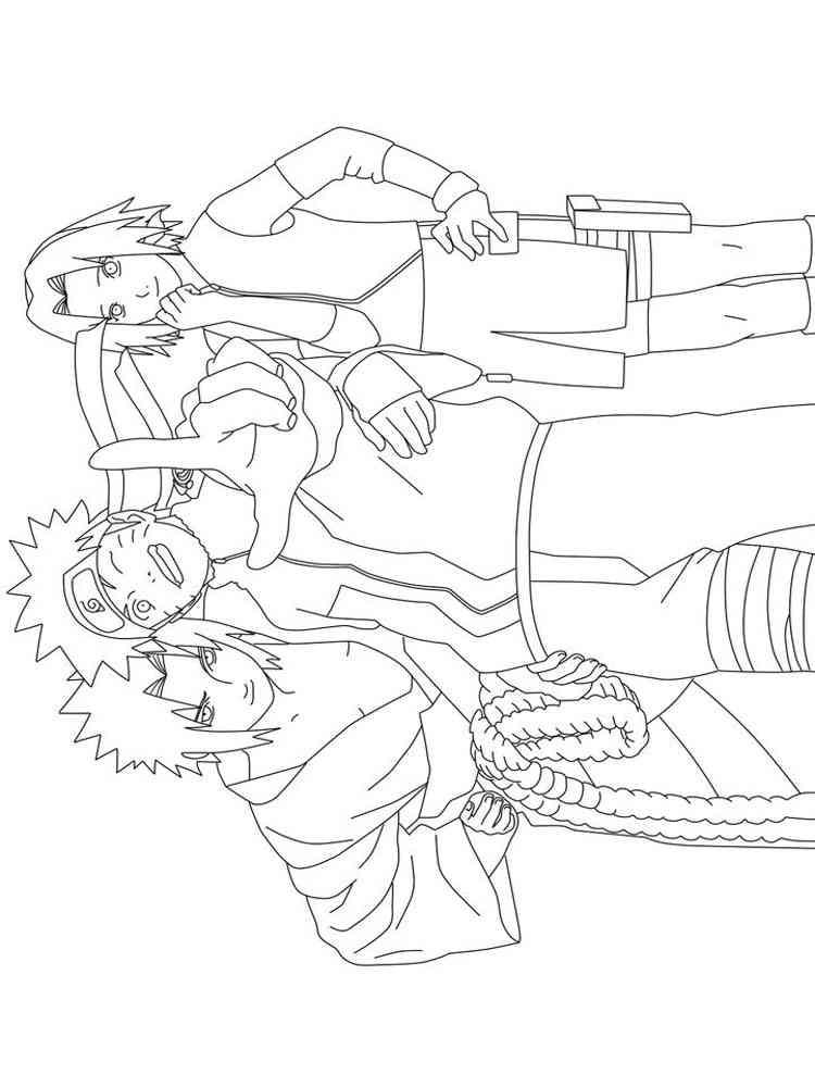 Раскраски Наруто - распечатать в формате А4
