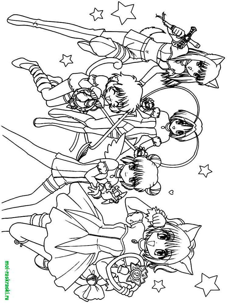 Раскраски Аниме - распечатать в формате А4