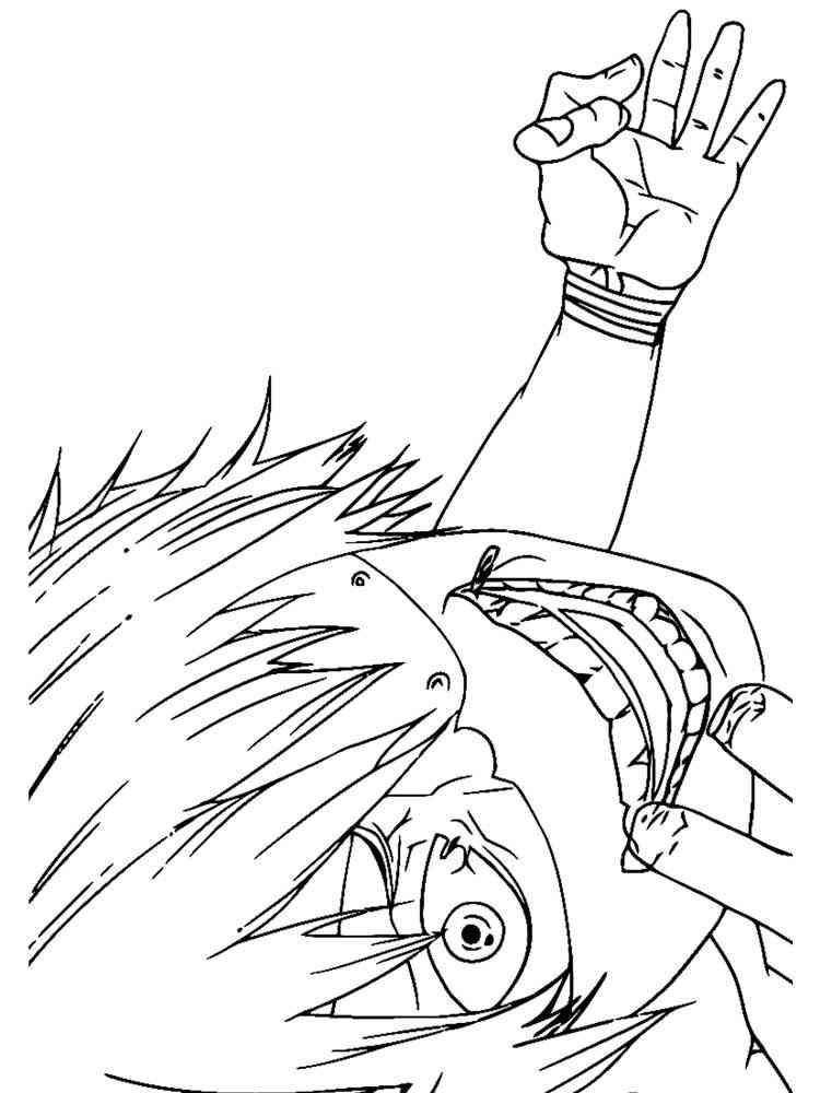 Раскраски Токийский Гуль - распечатать в формате А4