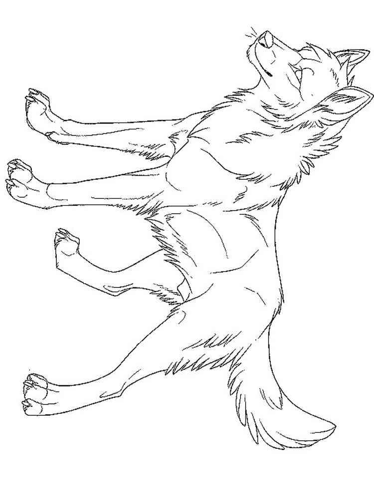 Раскраски Волк Аниме - распечатать в формате А4