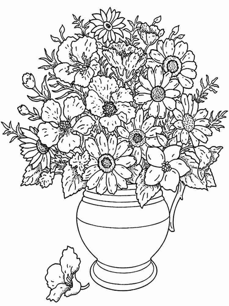 Цветок антистресс раскраска
