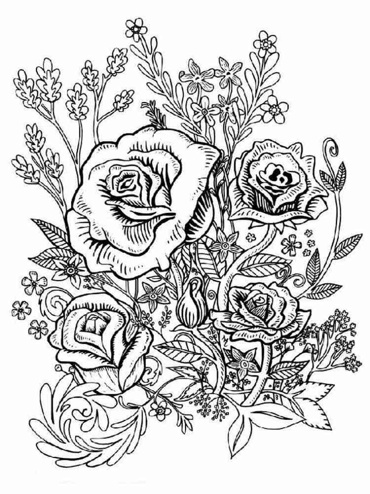 Раскраски Цветы Антистресс для взрослых. Скачать и ...