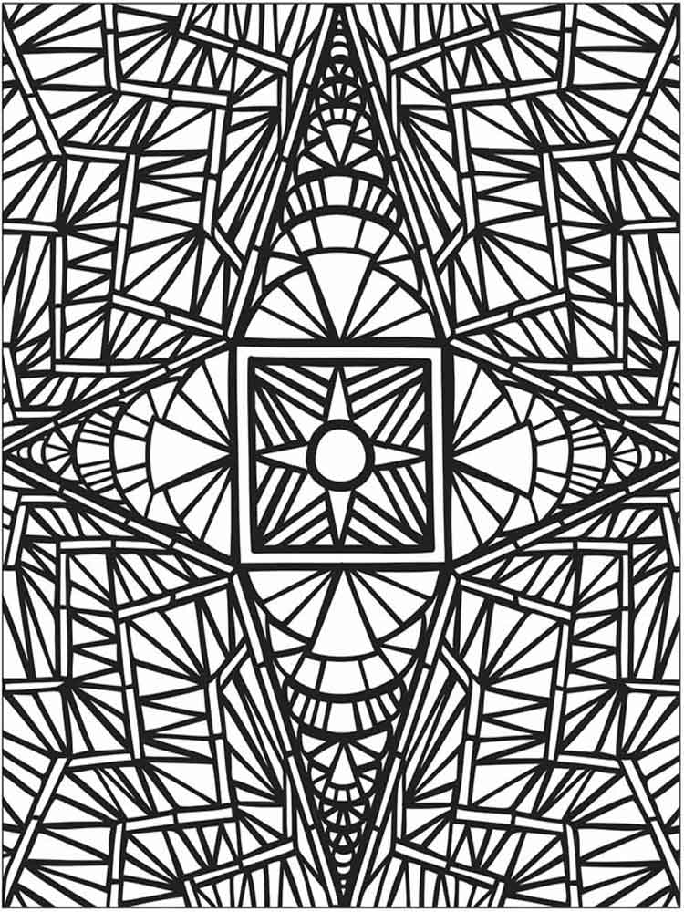 Cool geometric designs to color