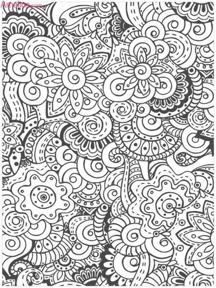 Как нарисовать раскраску антистресс
