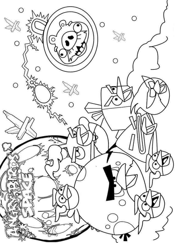 раскраски энгри бёрдс Angry Birds скачать и распечатать