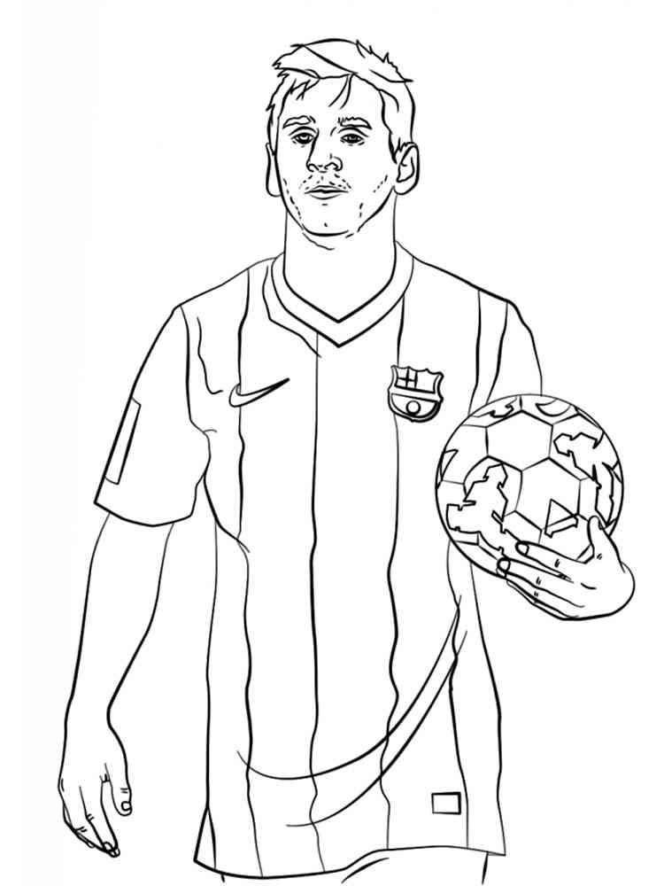 картинка для раскраски футболиста январе