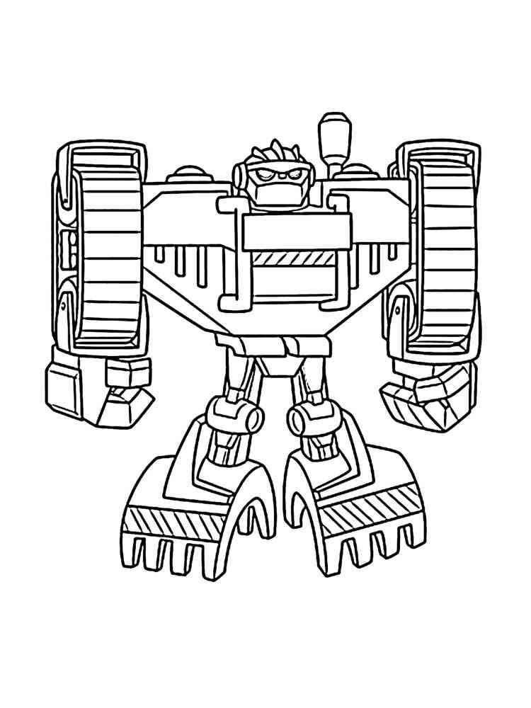 Раскраска Боты спасатели - распечатать в формате А4