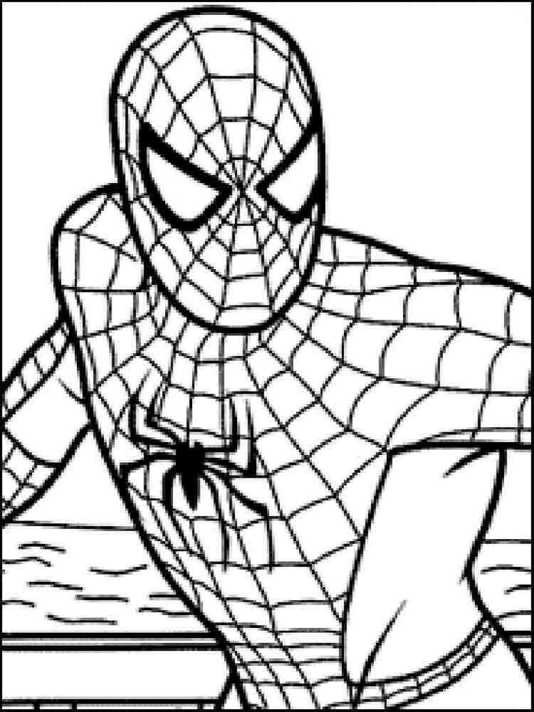 Раскраски Человек Паук - распечатать в формате А4