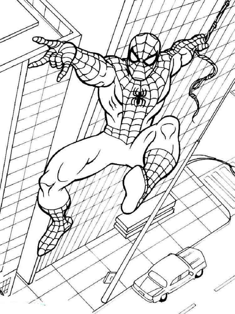 человек паук картинки раскраски