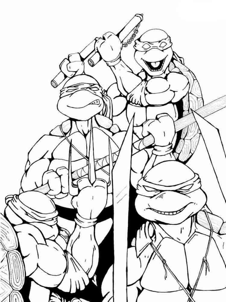 Черепашки ниндзя раскраска 10