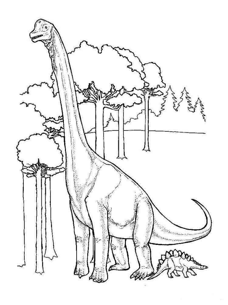 Картинка динозавр раскраска