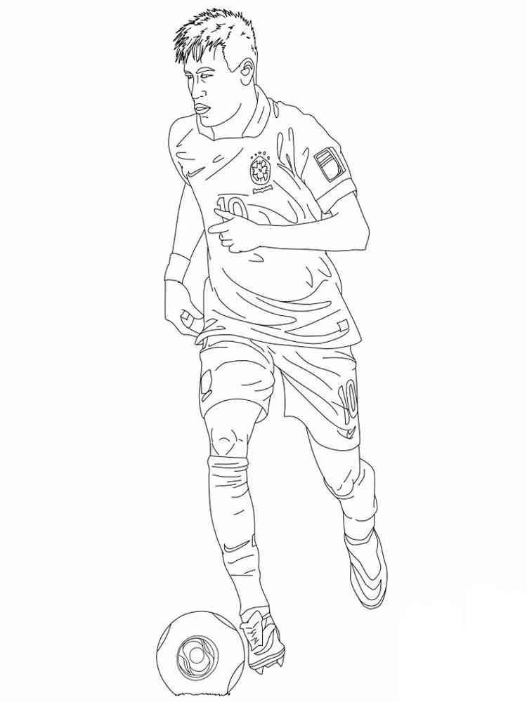 Картинки знаменитых футболистов раскраска