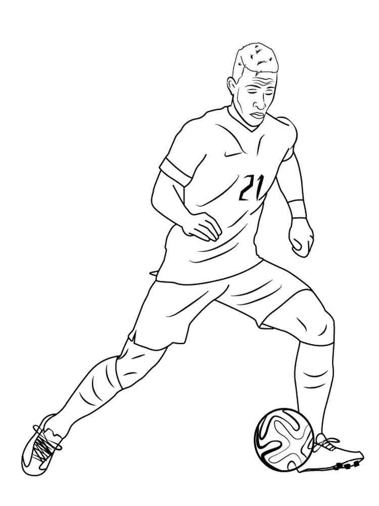 создается картинка для раскраски футболиста волосяного фолликула