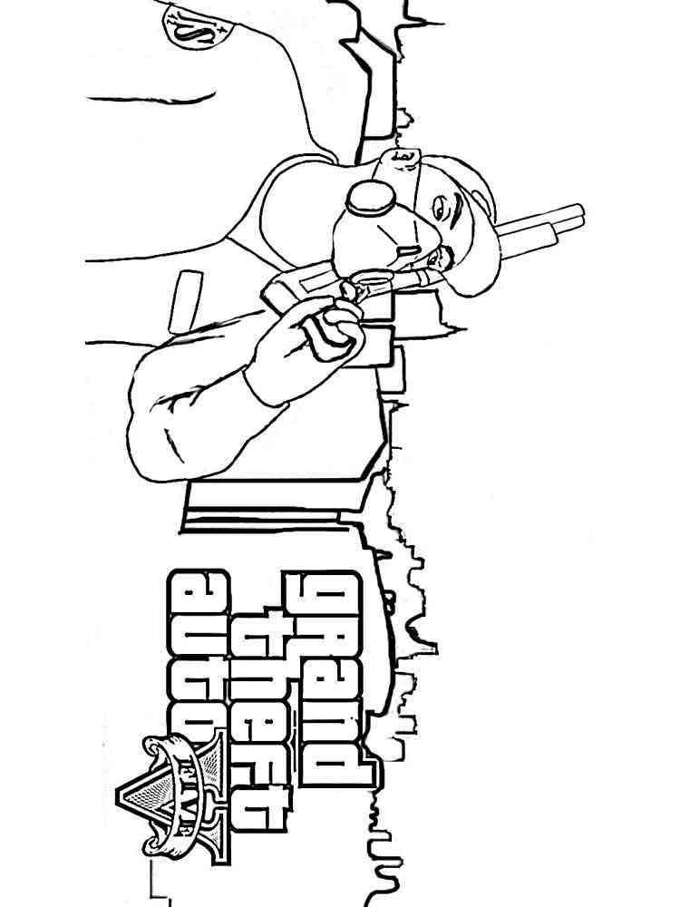 Раскраски ГТА (GTA) - распечатать в формате А4