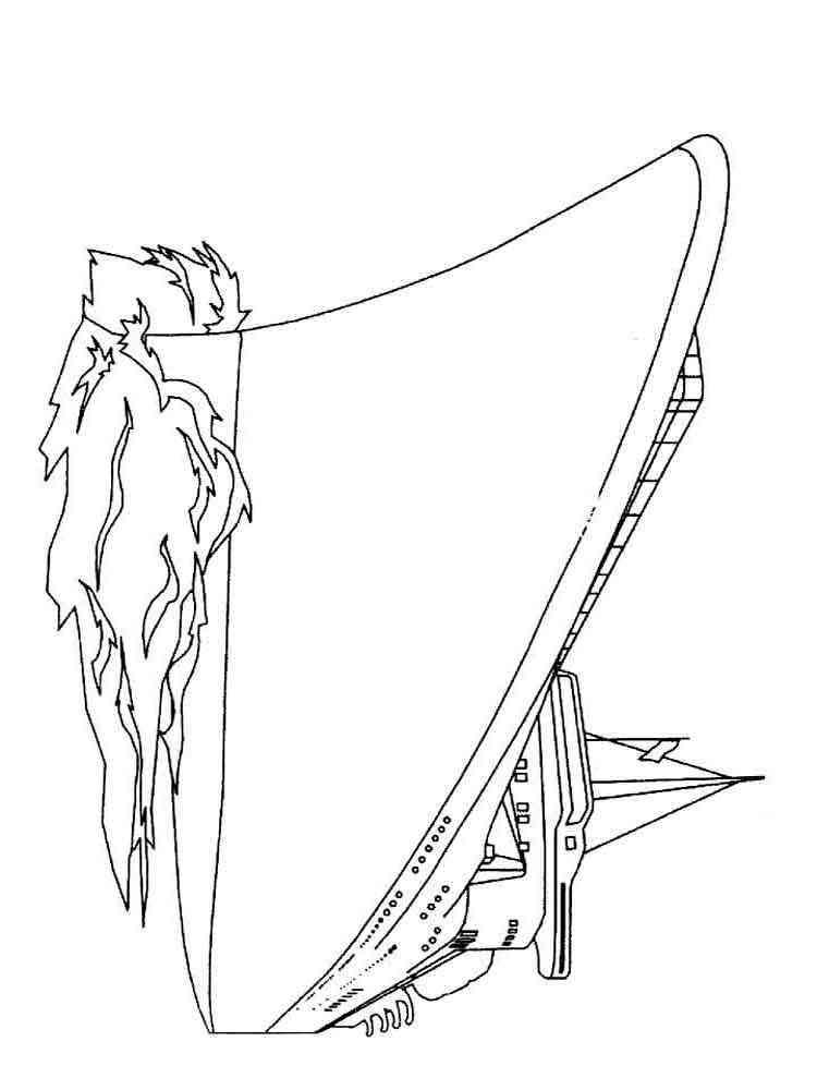 Раскраски для мальчиков корабли - 8