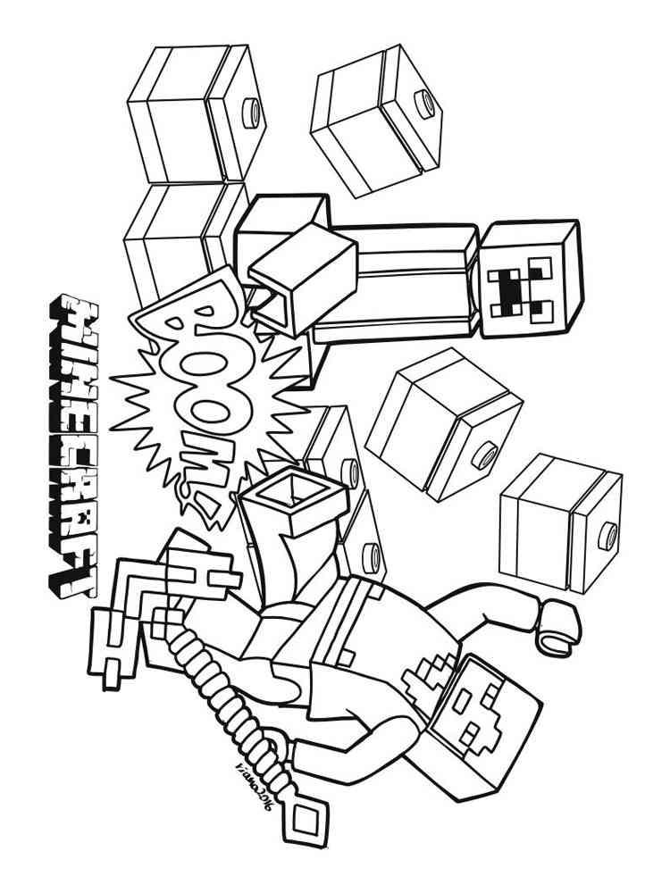 раскраска лего майнкрафт #6