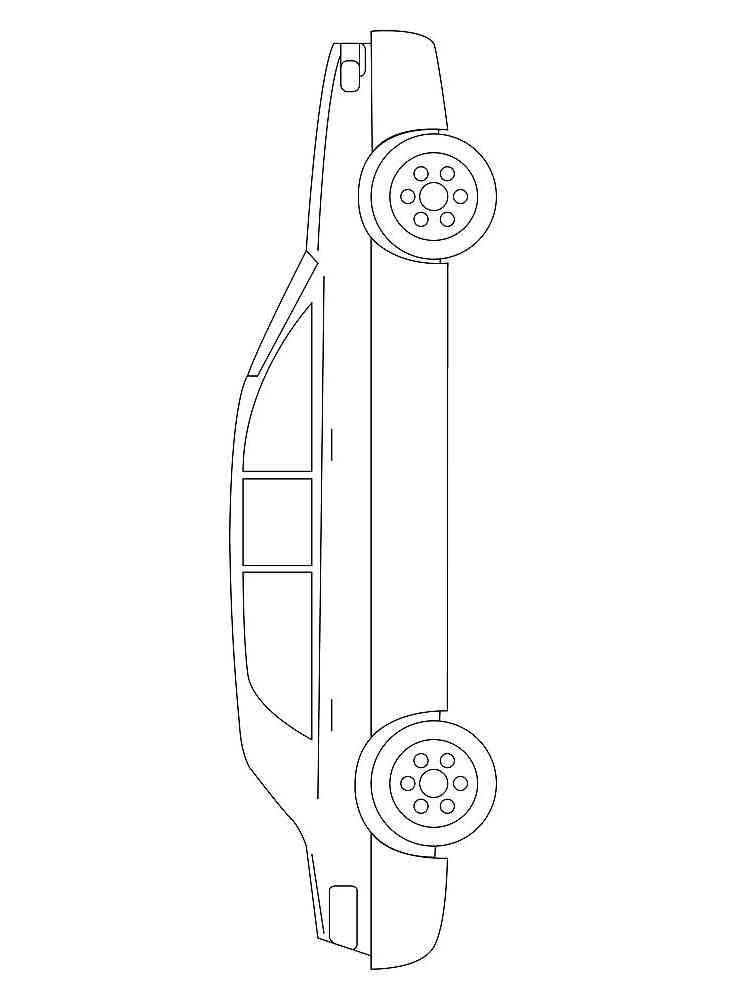 Раскраски Лимузин - распечатать в формате А4