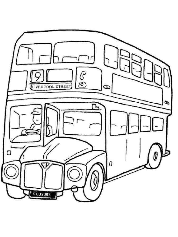 Картинки автобусов раскраска
