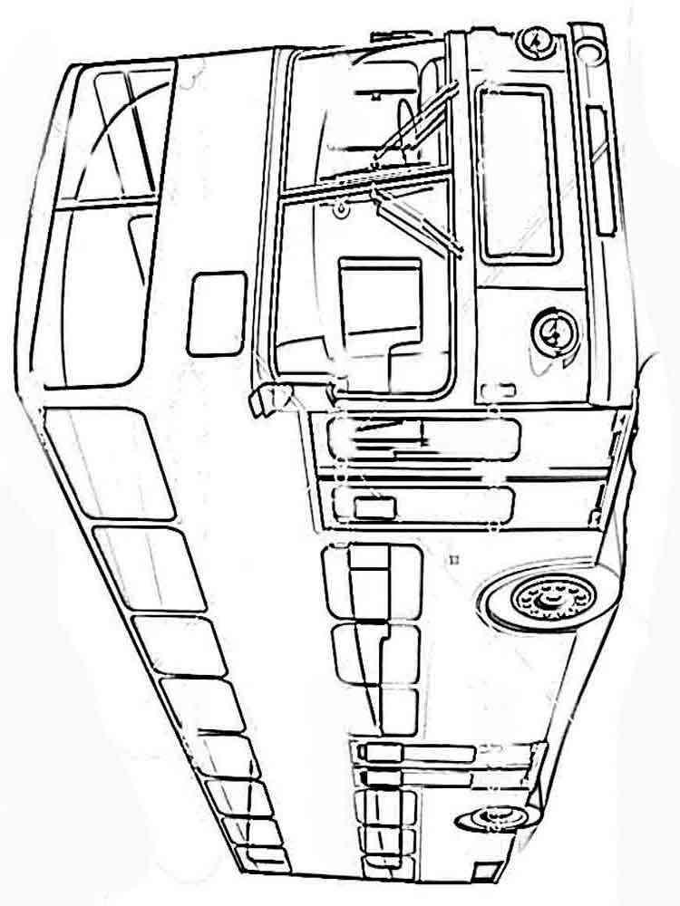 Раскраска автобусов онлайн для мальчиков - 2