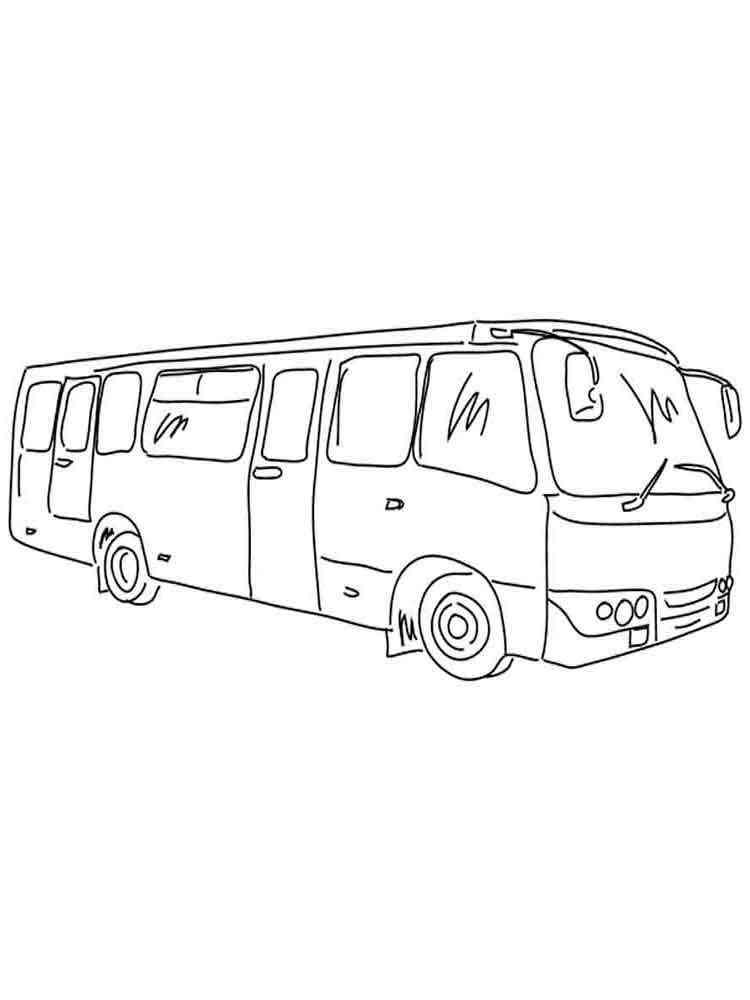 Раскраска автобус - 3