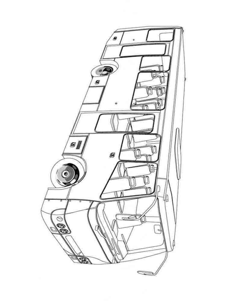 Раскраска автобусов онлайн для мальчиков